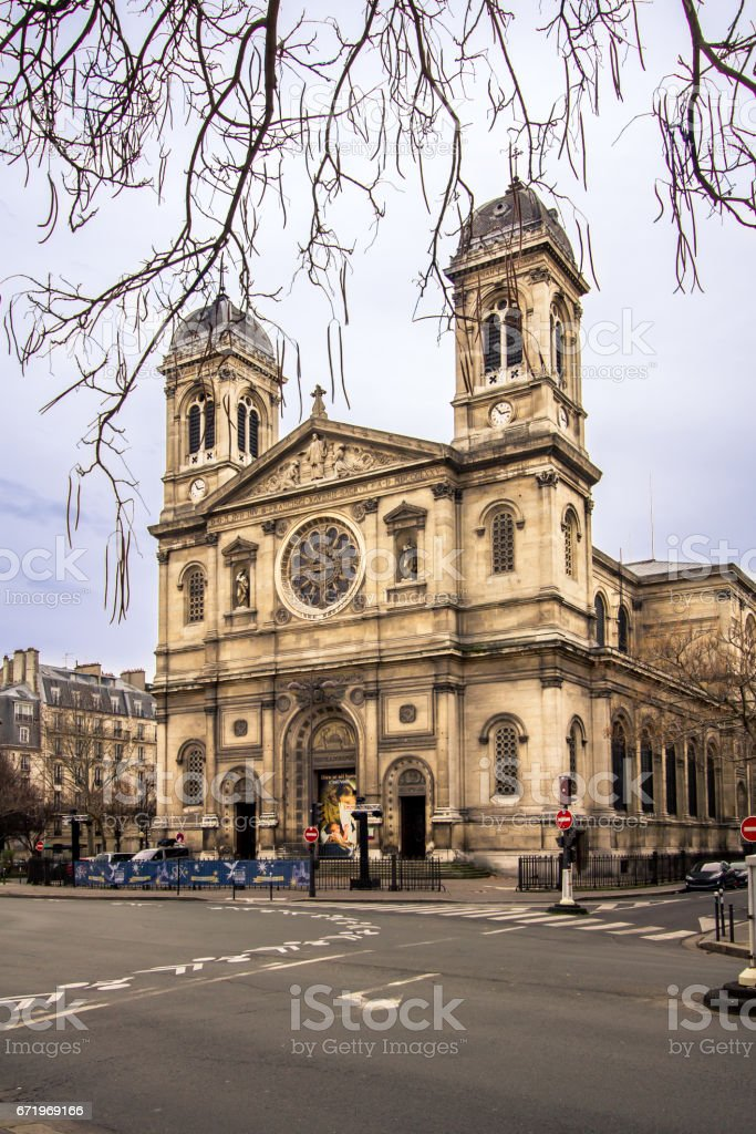 The Cathedral Church of St Francis Xavier, Paris stock photo