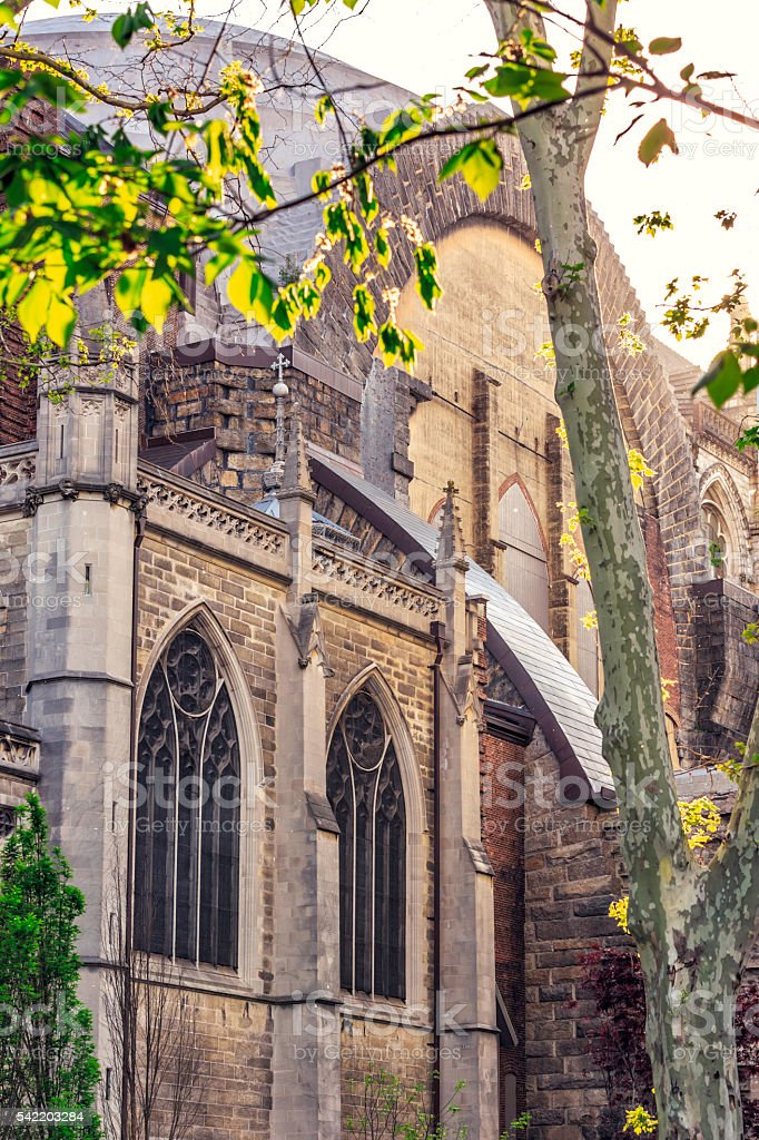 The Cathedral Church of St. John The Divine at Harlem stock photo