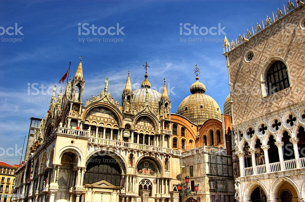 The Cathedral in St Marks Square, Venice, Italy. stock photo