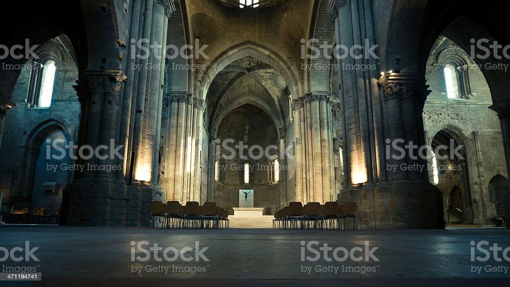 The Cathedral La Seu Vella royalty-free stock photo