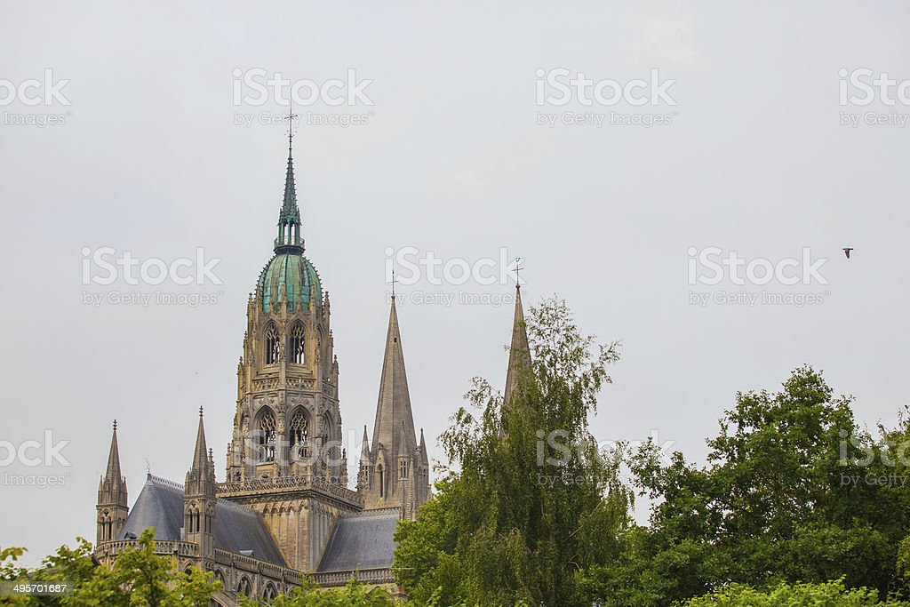 The cathedral Notre-Dame de Bayeux stock photo