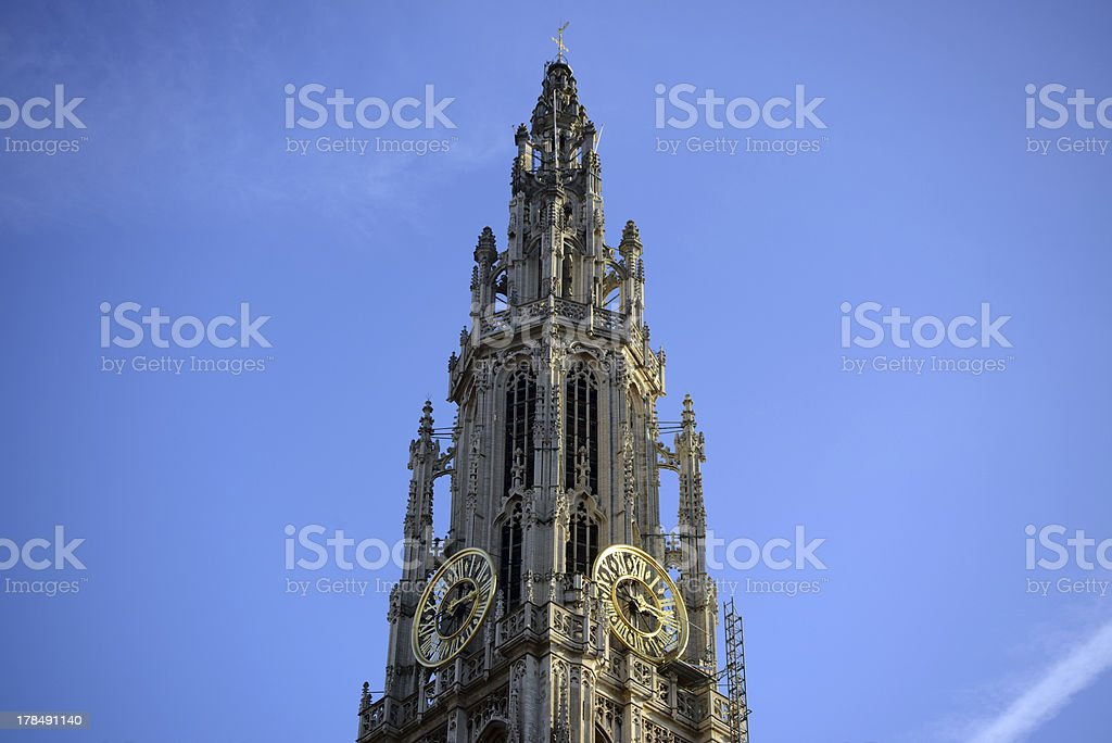 The cathedral of Antwerp royalty-free stock photo