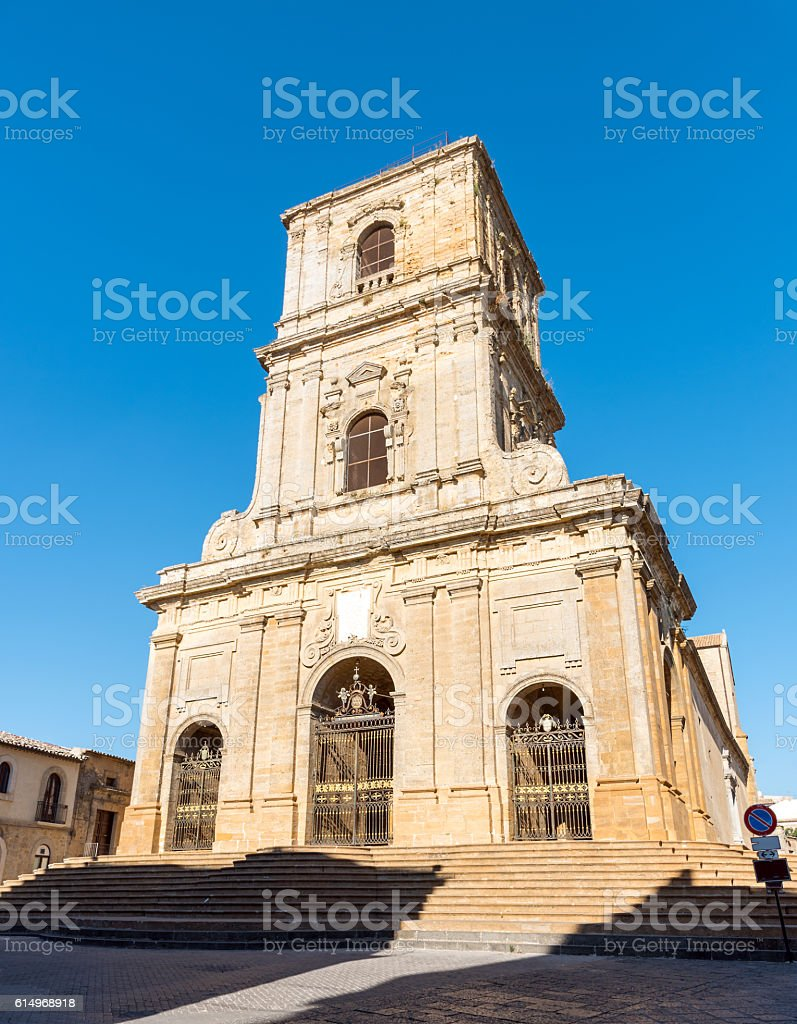 The cathedral of Enna in Sicily stock photo