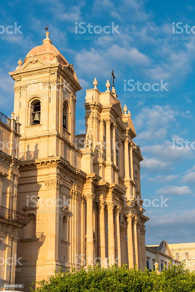 The cathedral of Noto in Sicily stock photo