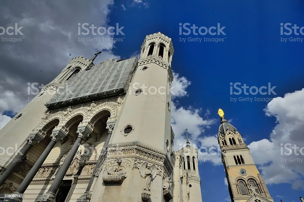 The cathedral of Notre Dame in Lyon 05 stock photo