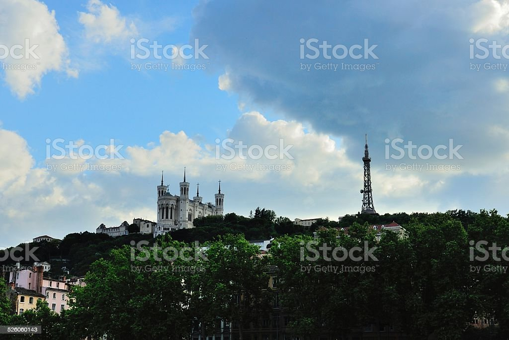 The cathedral of Notre Dame in Lyon 06 stock photo
