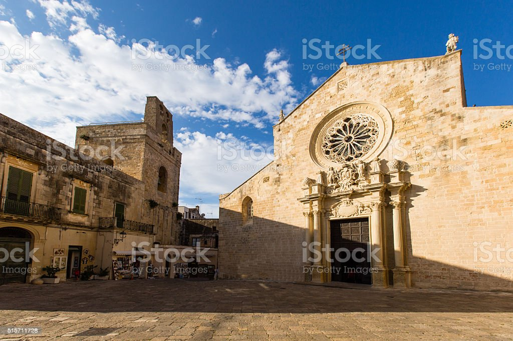 The cathedral of Otranto stock photo