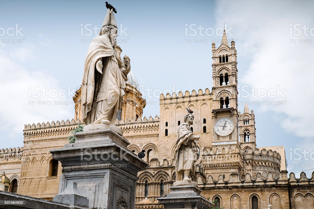 The Cathedral of Palermo stock photo