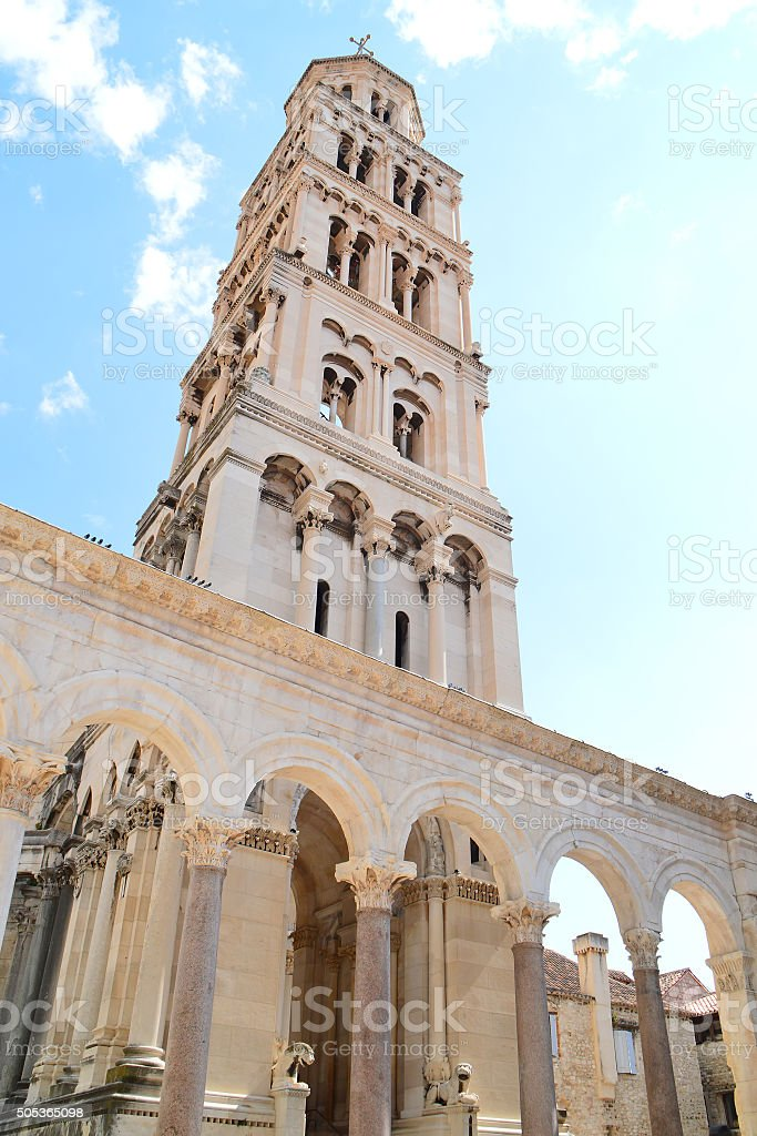 The Cathedral of Saint Domnius in Split, Croatia stock photo