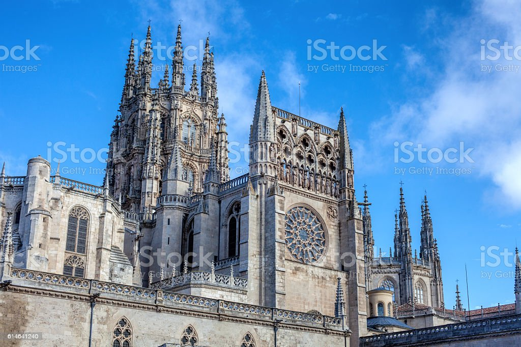 The Cathedral of Saint Mary of Burgos stock photo