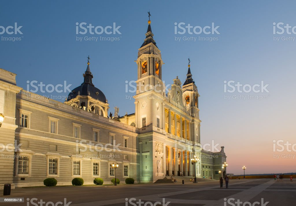 The Cathedral of Saint Mary the Royal of La Almudena stock photo