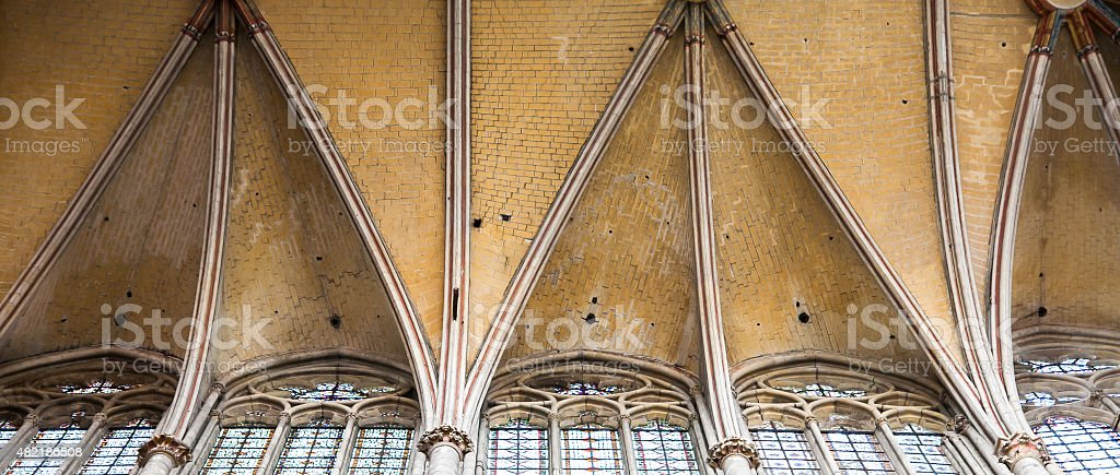 The Cathedral of Saint Peter of Beauvais stock photo