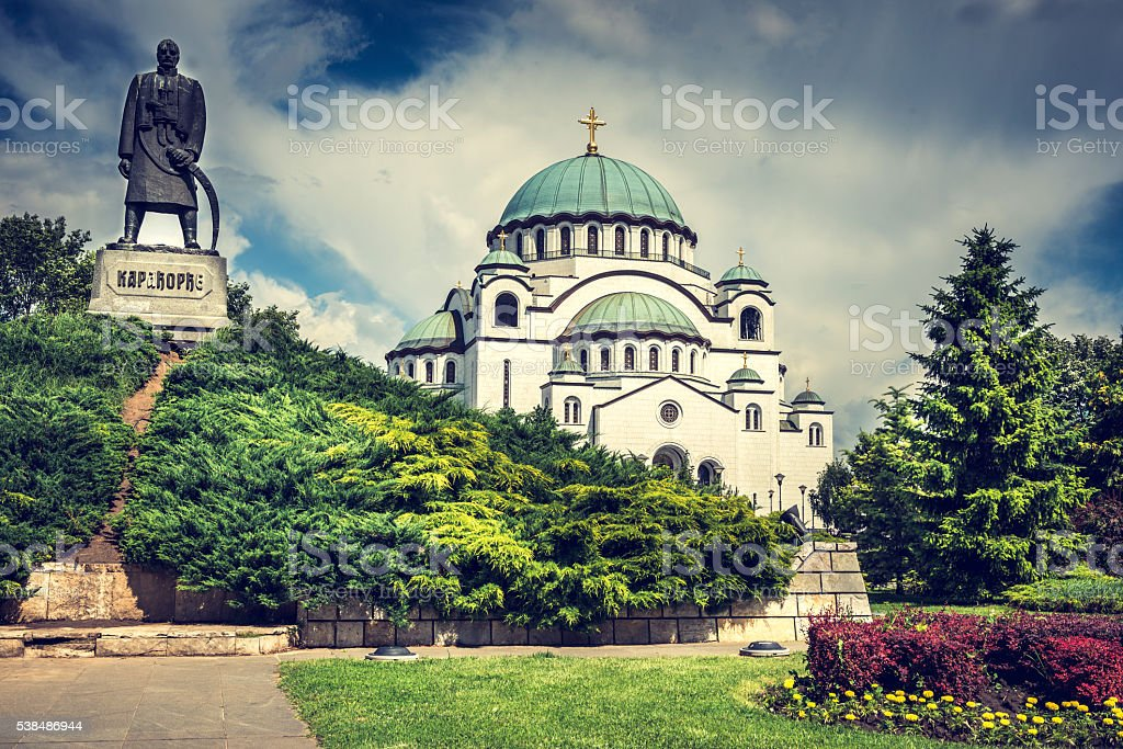 The Cathedral of Saint Sava stock photo