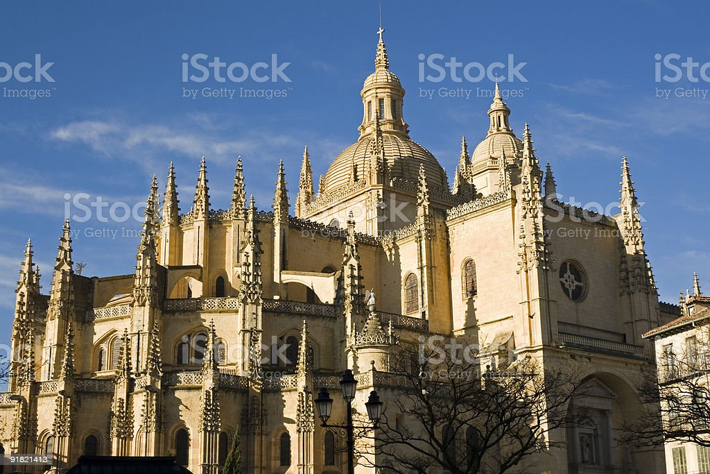 The Cathedral of Segovia - Spain stock photo