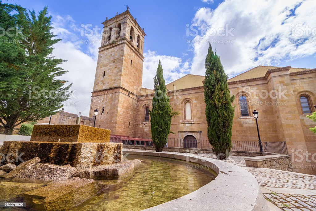 The Cathedral of Soria stock photo