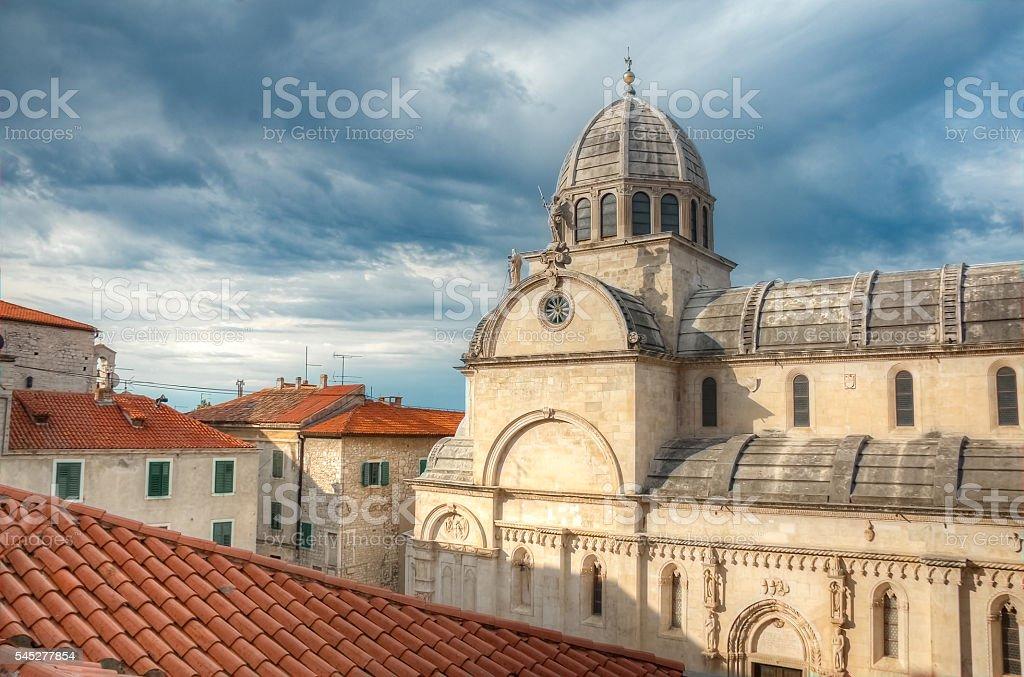 The Cathedral of St. James, Sibenik, Croatia stock photo