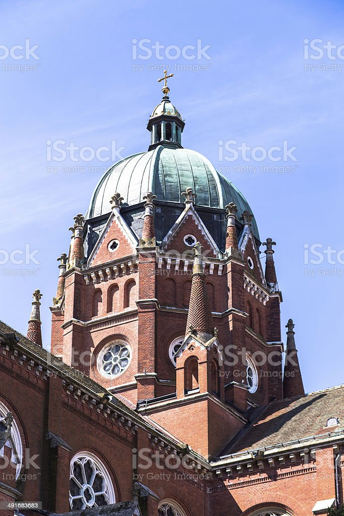 The Cathedral of St. Peter - Croatia - Djakovo stock photo