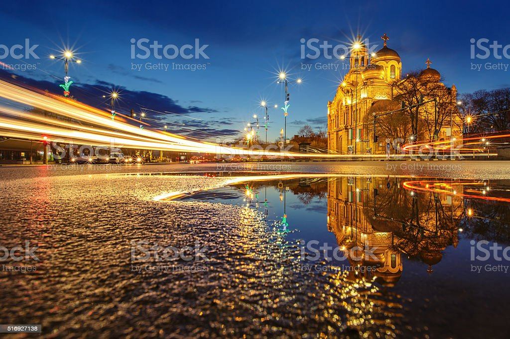 The Cathedral of the Assumption in Varna stock photo