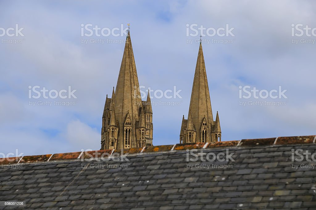 The Cathedral of the Blessed Virgin Mary,  Truro stock photo