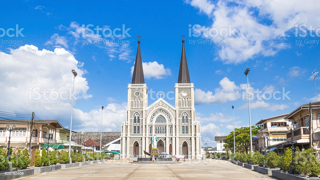 The Cathedral of the Immaculate Conception Chanthaburi THAILAND stock photo