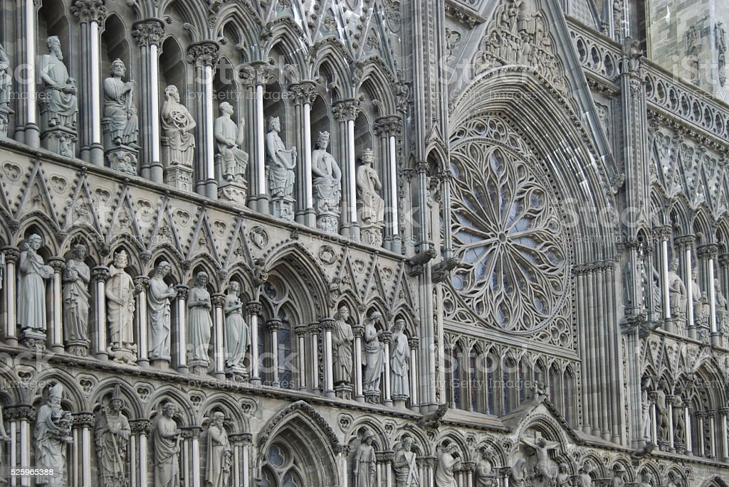 The cathedral of Trondheim, Norway stock photo