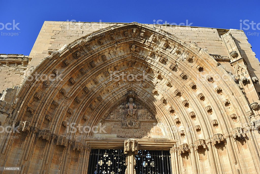 The Cathedral  St. Mary of La Seu Vella stock photo