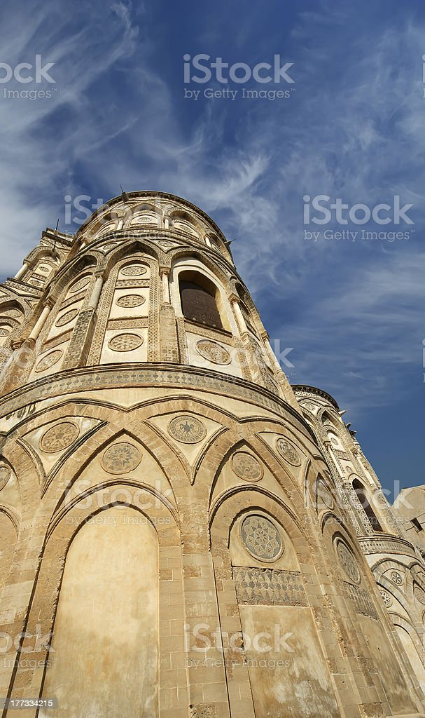 The Cathedral-Basilica of Monreale, Sicily, Italy royalty-free stock photo