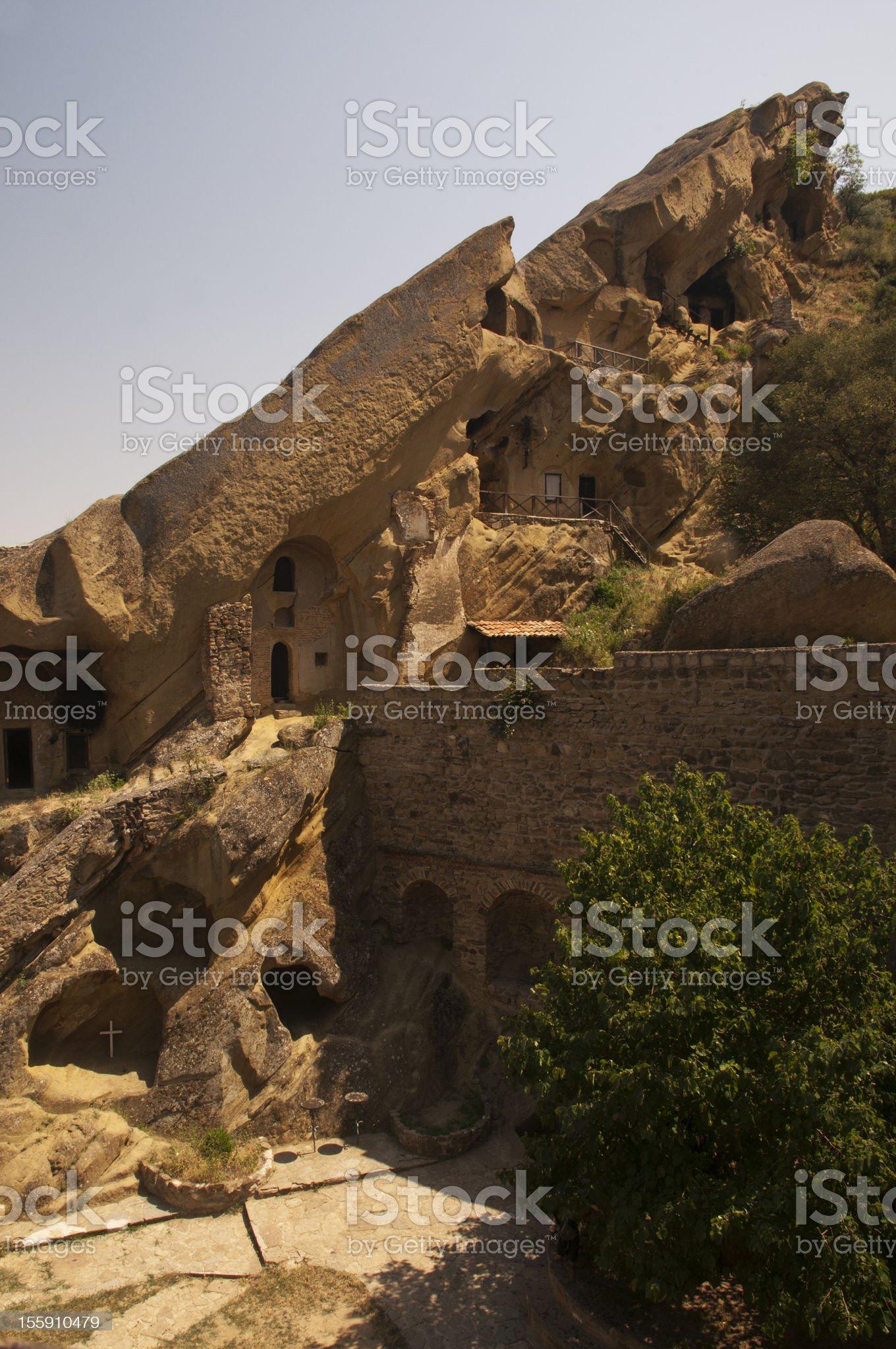 The caves of  David Gareja monastery, Georgia royalty-free stock photo