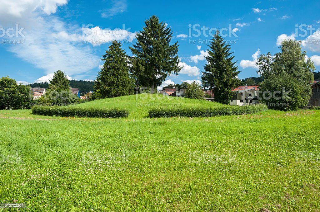 The Celts hill Krautbühl in Nagold stock photo