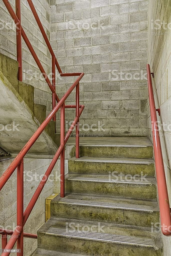 The Cement Staircase royalty-free stock photo