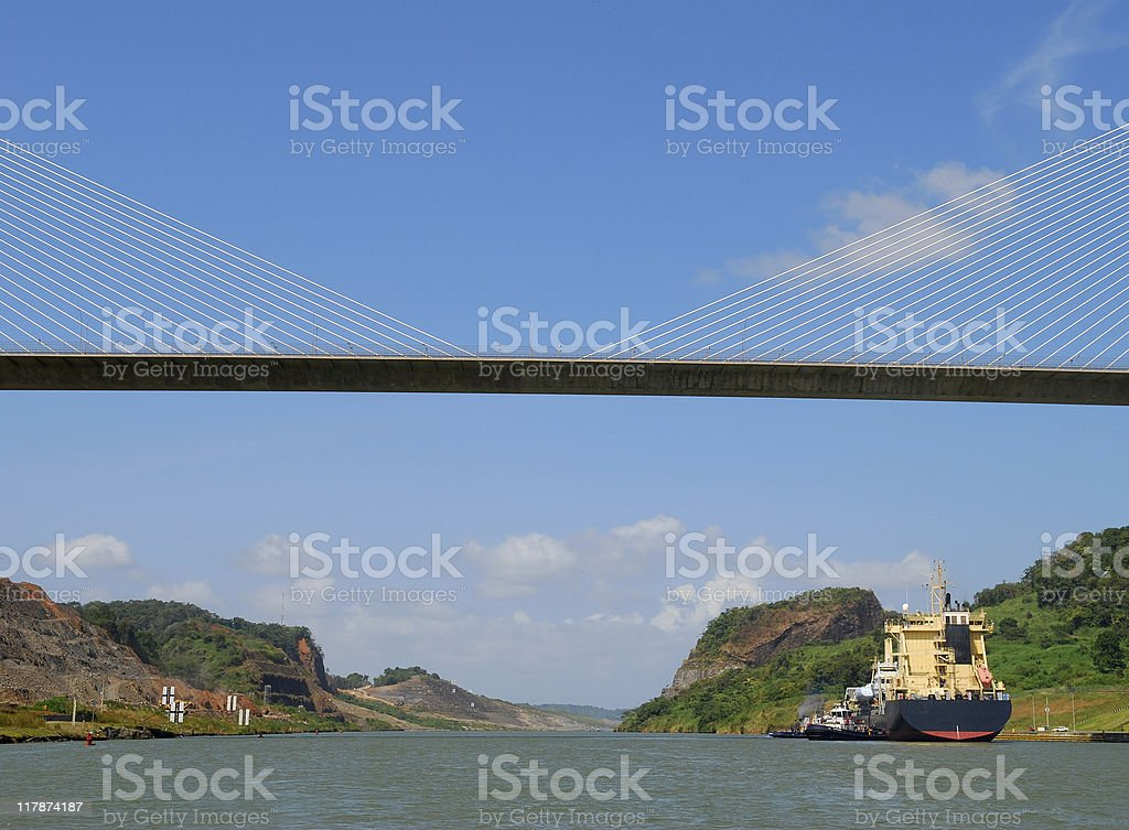 Bridge over Panama Canal royalty-free stock photo
