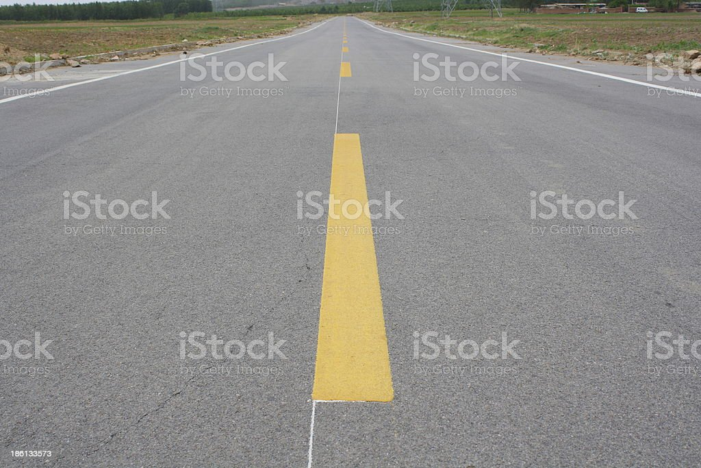 The Center Line royalty-free stock photo