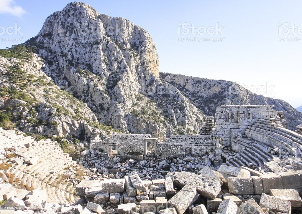 The center of ancient Termessos stock photo