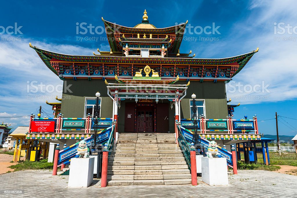 The center of Buddhism in Russia stock photo