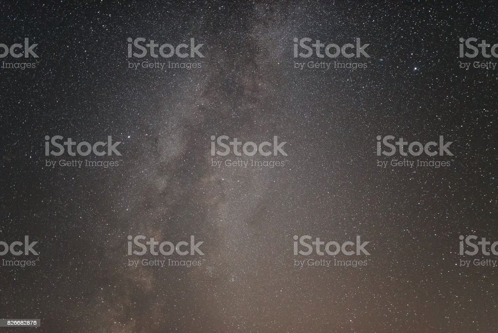 The center of our home galaxy, the Milky Way rising over the field