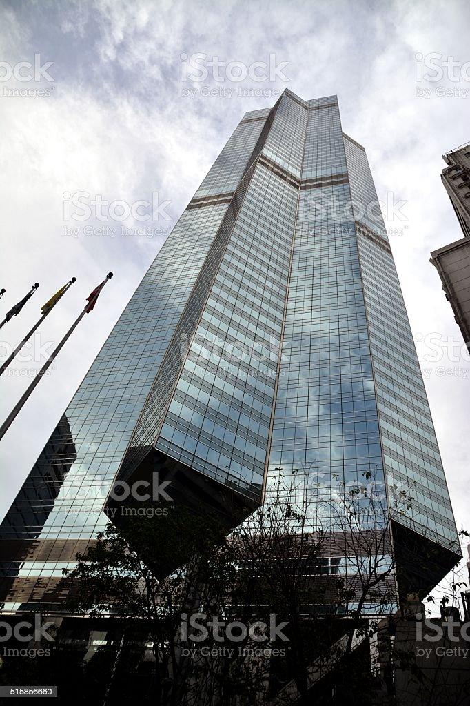 The Center skyscraper, Hong Kong island stock photo
