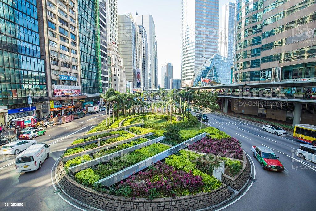 The central district landmark of Hong Kong ,China. stock photo