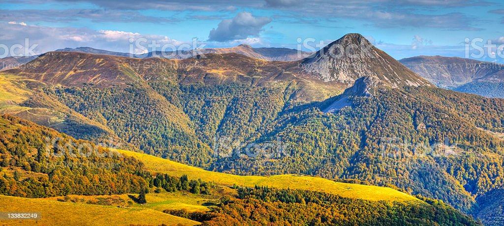 The Central Massif stock photo
