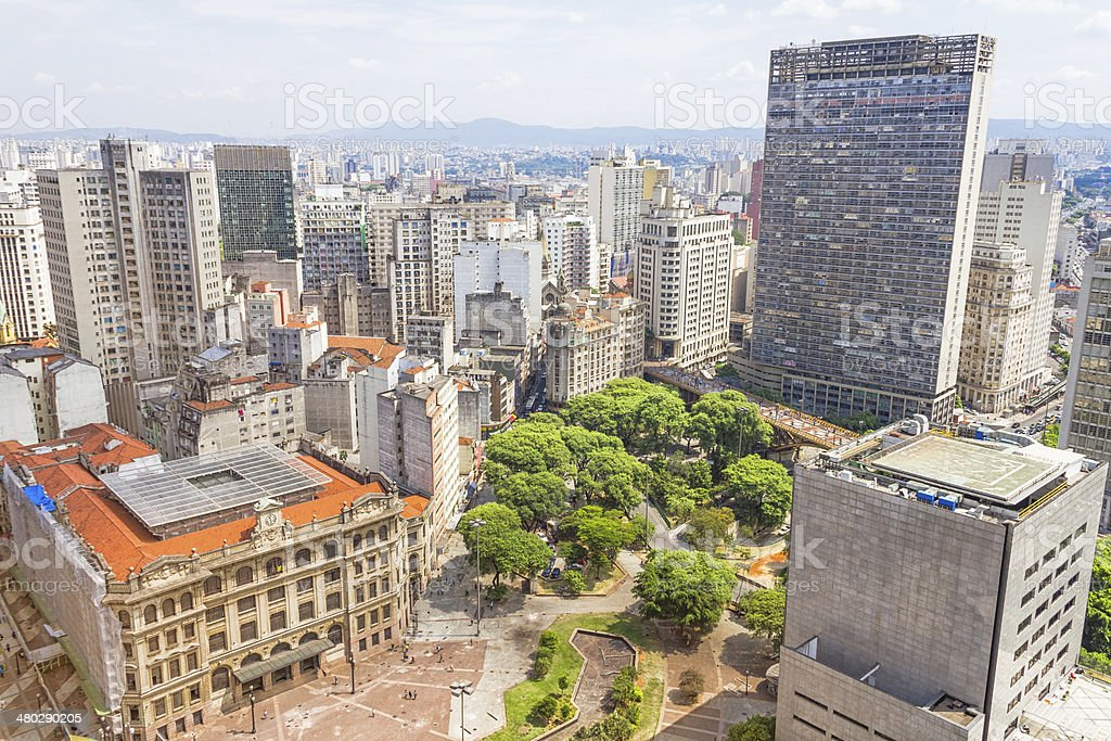The central part of Sao Paulo royalty-free stock photo