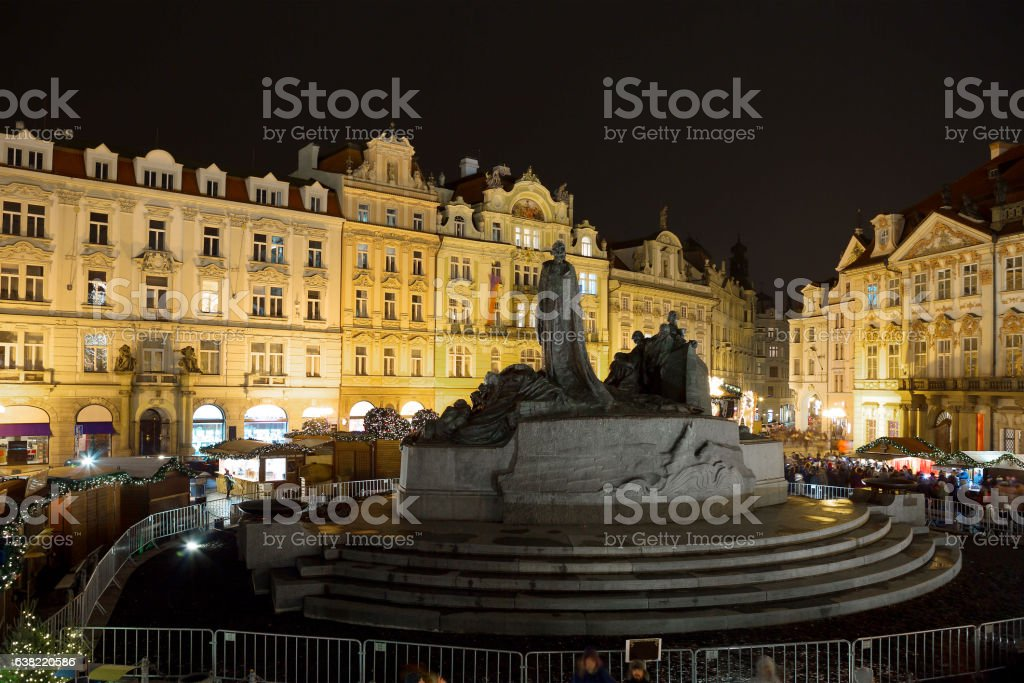 The Central square in Prague. stock photo