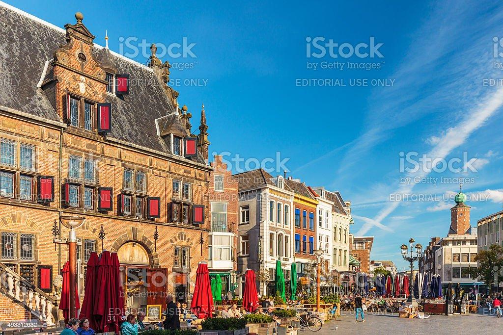 The central square in the Dutch city of Nijmegen stock photo