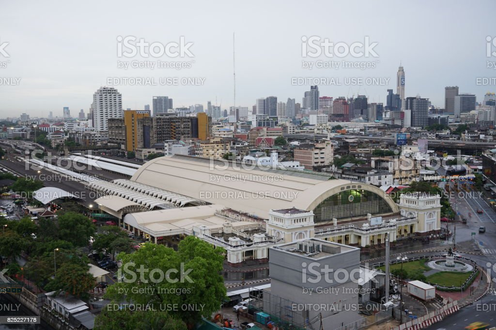 The central train station in Bangkok Thailand stock photo