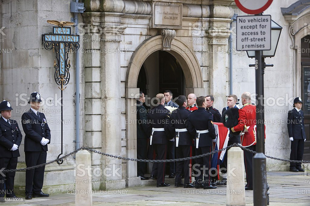 The Ceremonial funeral of former British Prime Minister Margaret Thatcher royalty-free stock photo