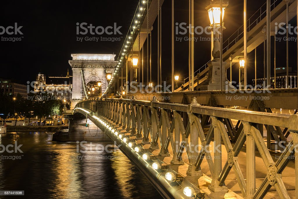 The Chain Bridge stock photo