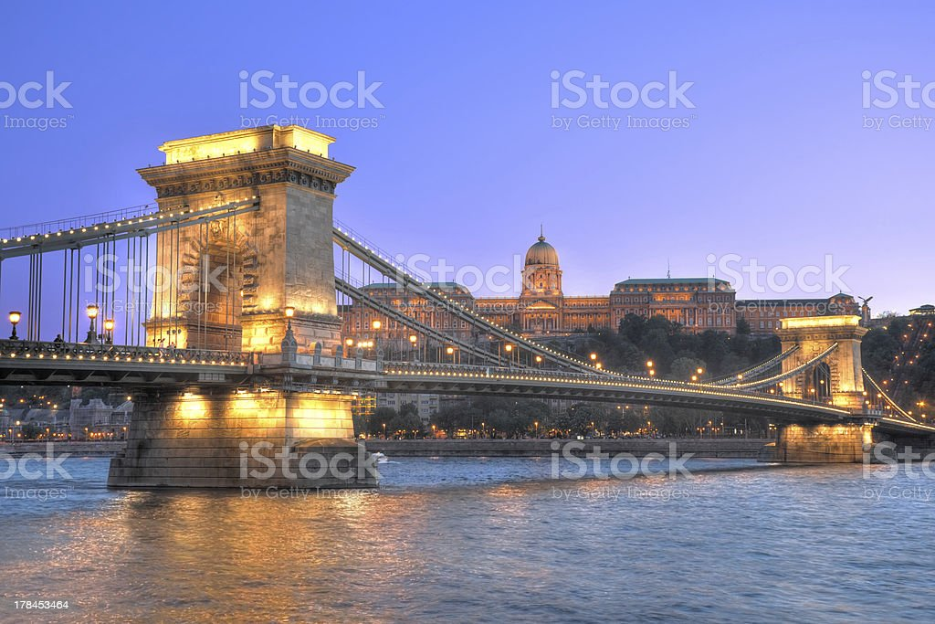 The Chain bridge,Budapest,Hungary stock photo