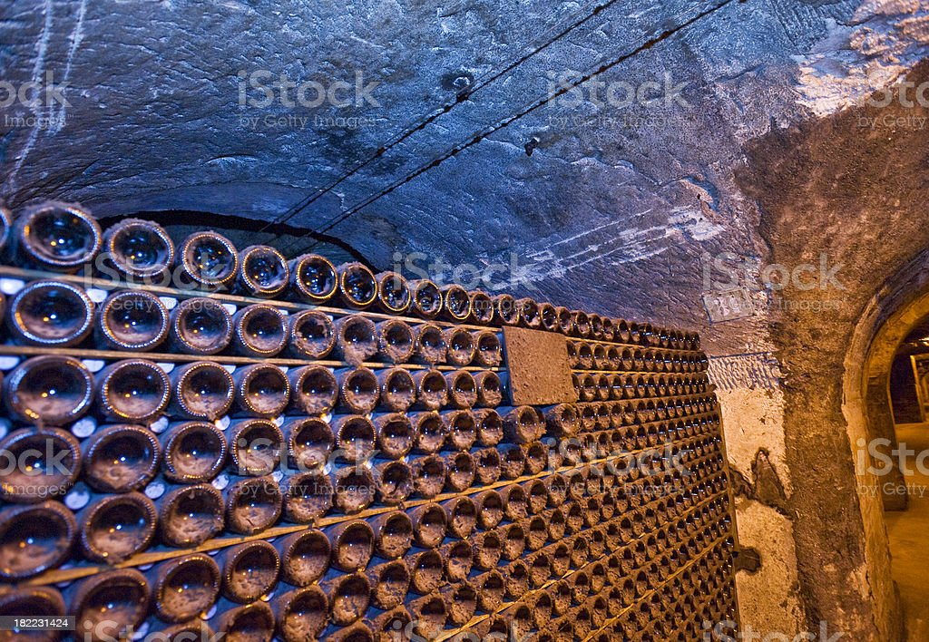 The Champagne Cellar stock photo