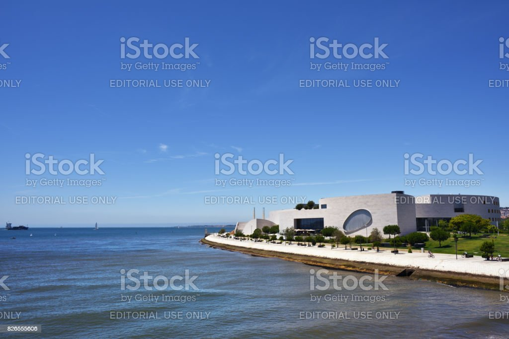 The champalimaud foundation centre in Lisbon, Portugal stock photo
