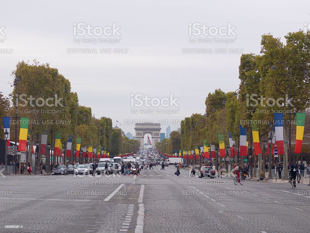 The Champs Elysees, Paris stock photo