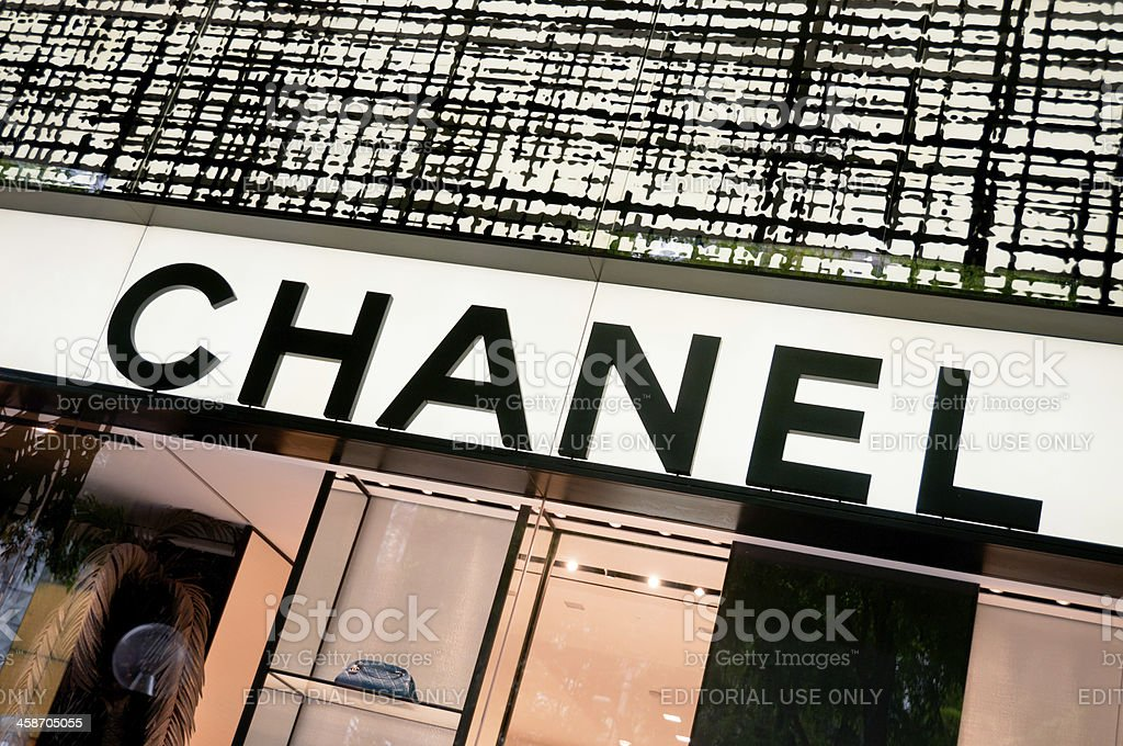 The Chanel Couture Logo royalty-free stock photo
