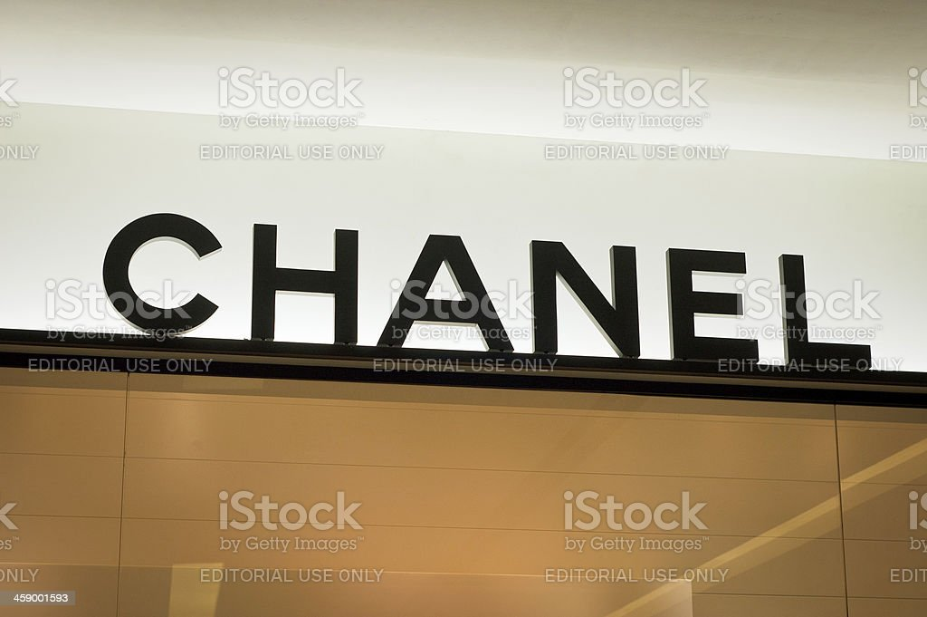 The Chanel Couture Logo stock photo